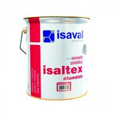Алюминиевая краска для декоративной отделки различных поверхностей - Изалтекс Алюминий 4л - 80м2
