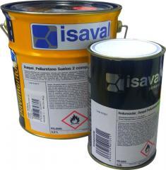 Полиуретановая краска для бетонных полов 2х-компонентная Дуэполь (жемчужно-серый) 4л до 28м2