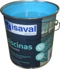 Краска для бассейнов и резервуаров хлоркаучуковая голубая 4л - до 32м2
