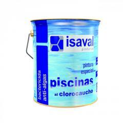 Краска ISAVAL Хлоркаучуковая для бассейнов 4 л голубой - для бассейнов, прудов и резервуаров