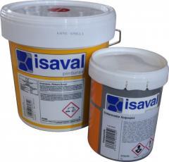 Эпоксидная краска для пола на водной основе, двухкомпонентная, серая 4л=40м2 isaval
