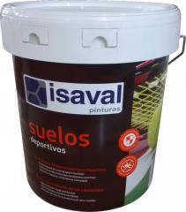 Спортивная краска для спортивных площадок, теннисных кортов, зелёная, красная 4л=40м2 isaval