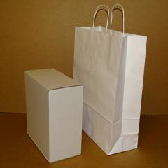 Коробка самосборная белая 250х240х120
