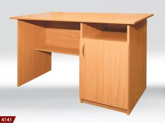 Desk, table for work, cabinet furniture from the
