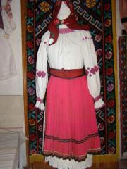 Одежда народная (Сорочка жіноча домоткана. Виготовлена з коноплі на початку ХХ століття)