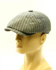 Восьмиклинка мужская летняя кепка серая.
