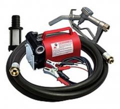 Portable pump for transfer and distribution of