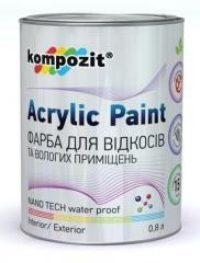 Paints waterproof: Paint for Kompozit® slopes, and also walls and ceilings in rooms with the increased humidity or high operational loading (bathrooms, kitchens, corridors, offices, etc.).