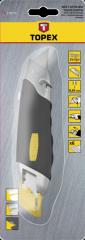 Нож с трапециевидным лезвием 170мм, 6 лезвий TOPEX
