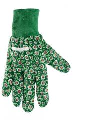 Перчатки садовые х / б ткань с ПВХ точкой, манжет,