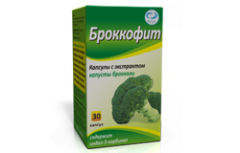 Capsules with extract of cabbage of Brokkofit