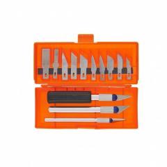 Набор резцов по дереву, пластмассовые ручки, 13 шт