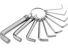 Набор ключей имбусовых HEX (шестигранный), 1, 5-10