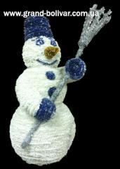 Об'ємна фігура, сфера светодиодная, снеговик