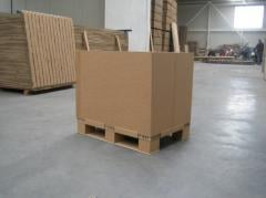 Cargo cardboard pallets Exactly. Pallets from a