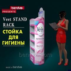 Рекламные стойки для гигиены Veet