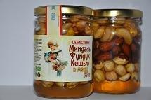 Almonds a cashew filbert in honey, 320 g.