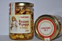 Cashew the Filbert in honey, 320 g.