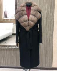 Пальто с куницей, арт. 34456488