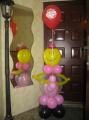Compositions from balloons, Svyatoshino, Nivki,