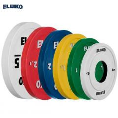 Disks are color, Eleiko, 0,5-5 kg., pancakes for a