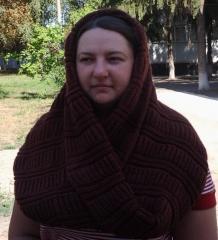 Снуд, шарф вязаный.