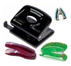 Punchers, staplers, anti-staplers