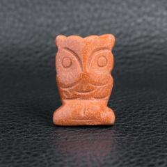 Авантюрин золотой песок, статуэтка Сова, 235ФГА