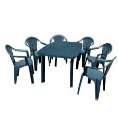 Набор садовой мебели Faro зеленый 1 стол + кресло