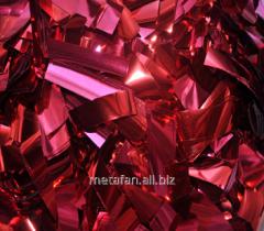 Confetti metafan the red metallized bilateral