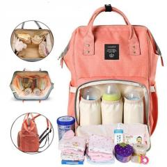 Сумка-рюкзак для мам LeQueen. Розовый Оригинал