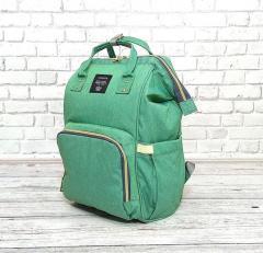 Сумка-рюкзак для мам LeQueen. Мятный Оригинал