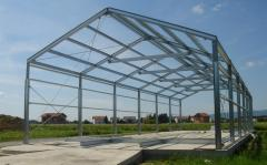 Buildings from an easy metalwork. Construction of