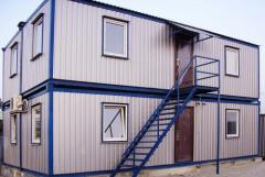 Buildings modular fast-built. Construction of the