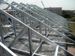 Canopies are entrance. Construction of the