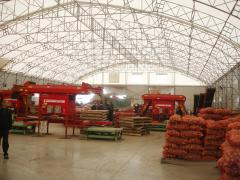 Canopies for storage of agricultural production.