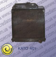 Radiator of water cooling of the engine for the