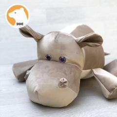 Мягкая игрушка Бегемотик, диванная подушка