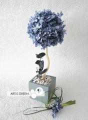 Дерево со стабилизированной гортензией Blue