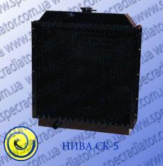 Radiator for the combine of grain-harvesting SK-5