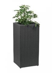 Кашпо напольное темно коричневый-серый K01-110461