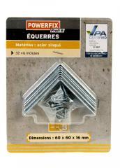 Набор металических уголков 60 х 60 х 16 мм