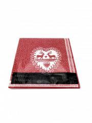Салфетки столовые 12 шт 40*40см Lidl красный-белый