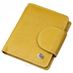 Небольшое портмоне для женщин ST Leather 18924 Горчичный