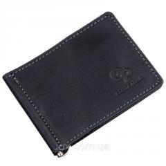 Компактный зажим для денег винтажный GRANDE PELLE 11199 Черный