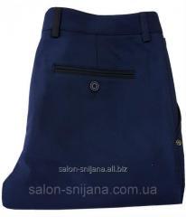 Брюки мужские синие № 125 - Сатэн 180387-1