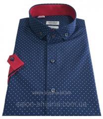 Мужская рубашка классическая с коротким рукавом № 10-29 -1007-6 RC