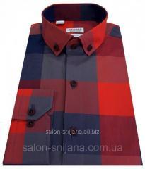 Рубашка мужская в клетку №12-30 - 40-207 V4