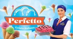 Sorbe ice cream. Sorbet. Italian PERFETTO ice