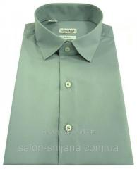 Мужская рубашка с коротким рукавом №10-16 - Dacron 2133